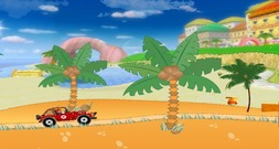Car-game-with-mario-at-the-beach