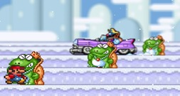 Dodge-game-with-mario-in-the-snow