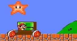Launch-game-with-mario-goomba-and-a-cataplute