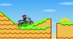 Platform-game-with-mario-motard